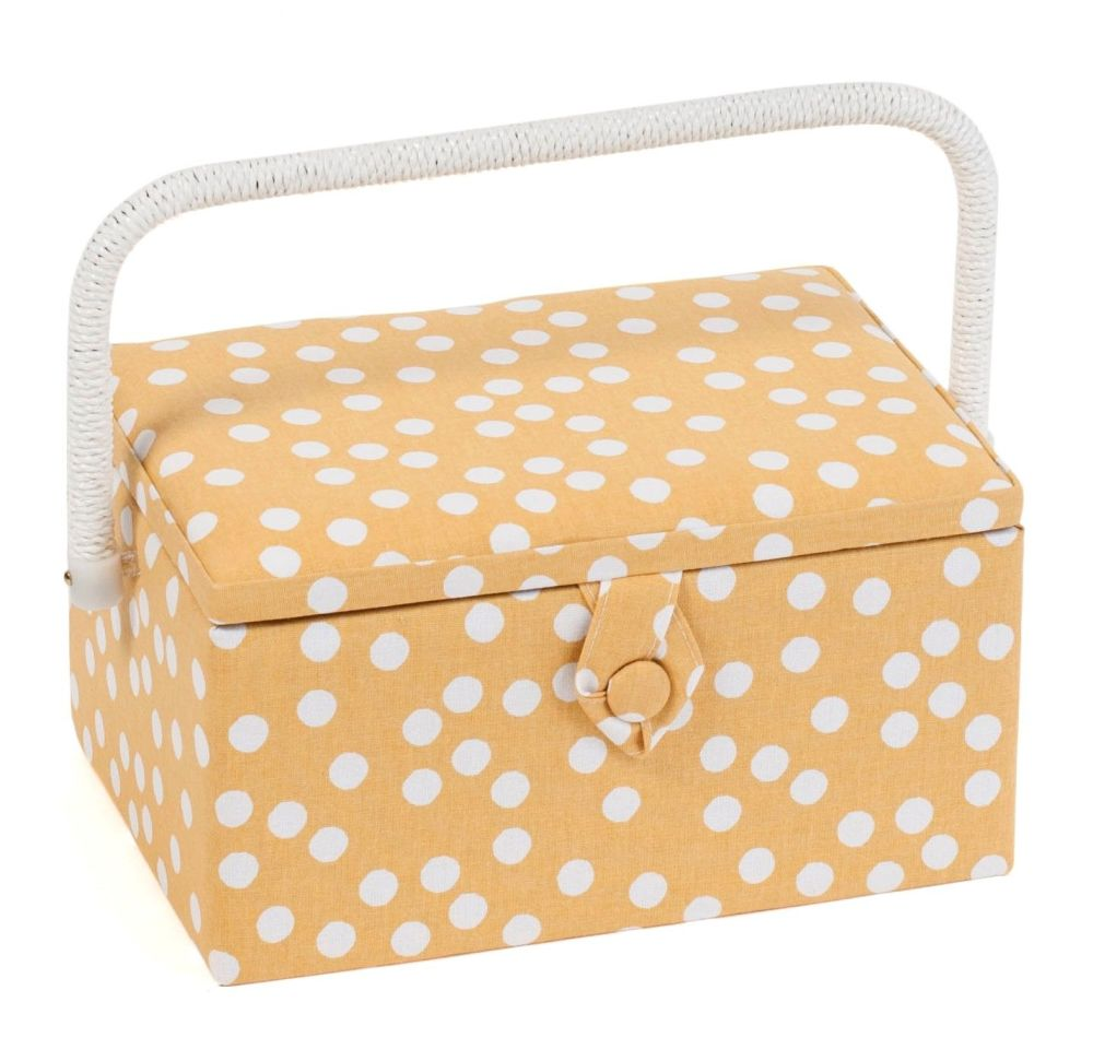OCHRE SPOT MEDIUM SEWING BASKET