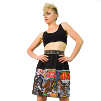 Size 6/10, Two Tier Skirt ft. Star Wars