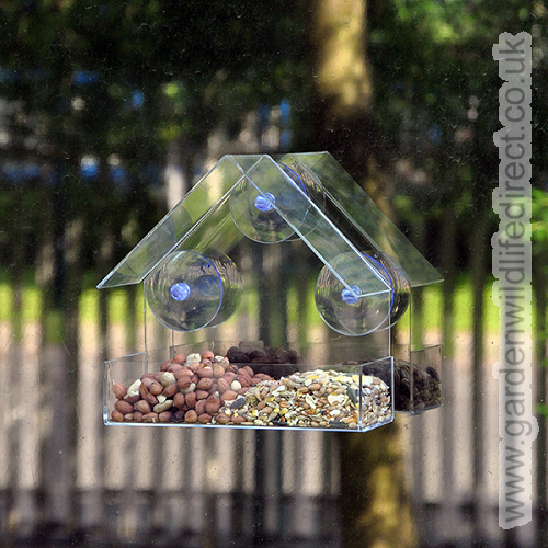 Garden Wildlife Direct have a range of window feeders