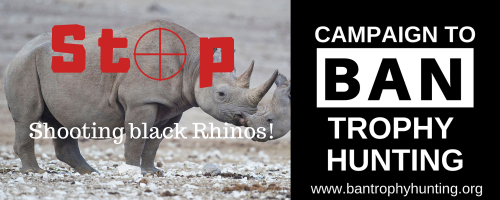 Please sign this petition:  Stop shooting black rhinos!