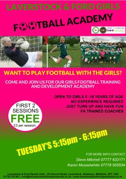 Girls Football Academy ONGOING march