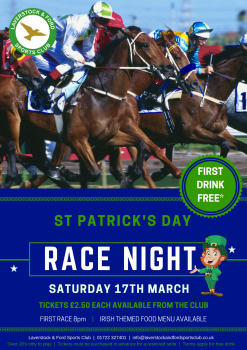 RACE NIGHT MARCH 17th