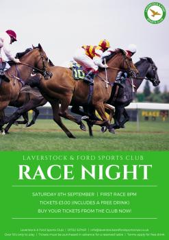 Sept 18 Race Night