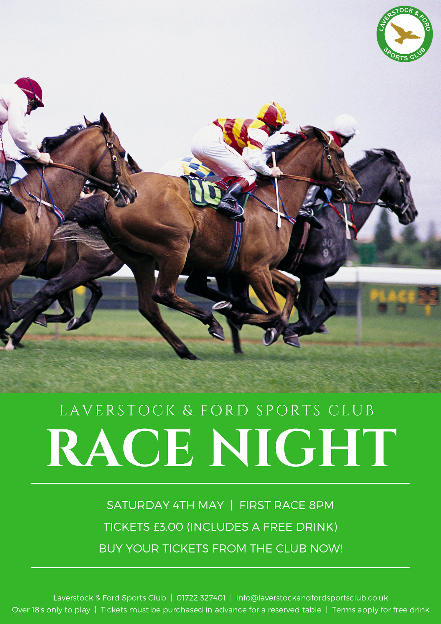 Race Night 4th May Poster