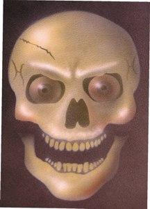SPECIAL OFFER!!  Manic Skull Stencil