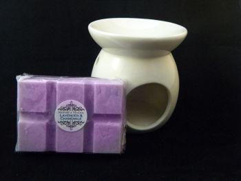 Lavender & Chamomile Oil Burner Set