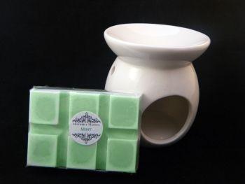 Mint Oil Burner Set