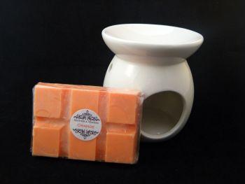 Orange Oil Burner Set