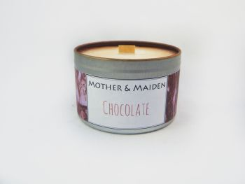 Chocolate Wood Wick Tin
