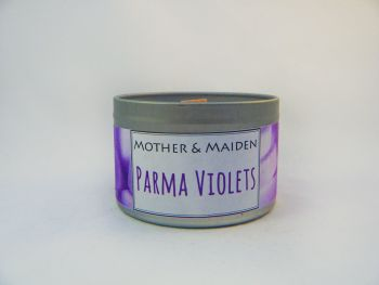 Parma Violets Wood Wick Tin