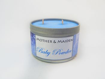 Baby Powder Wood Wick Tin