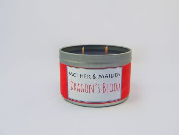 Dragon's Blood Wood Wick Tin