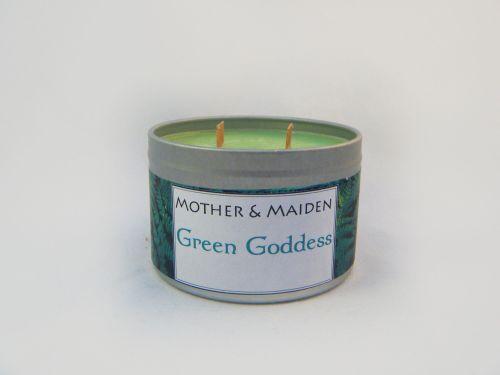 Green Goddess Wood Wick Tin