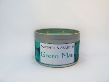 Green Man Wood Wick Tin