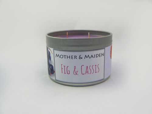Fig & Cassis Wood Wick Tin