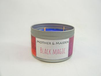 Black Magic Wood Wick Tin