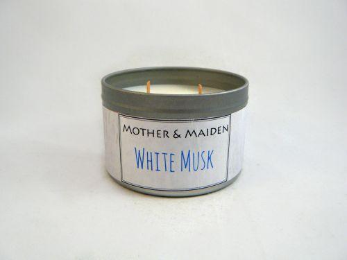 White Musk Wood Wick Tin