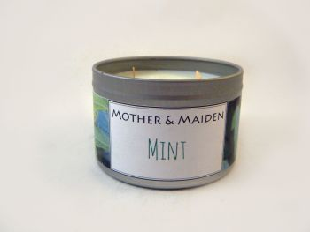 Mint Wood Wick Tin