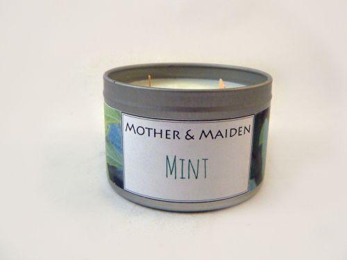 Mint Wood Wick Tin