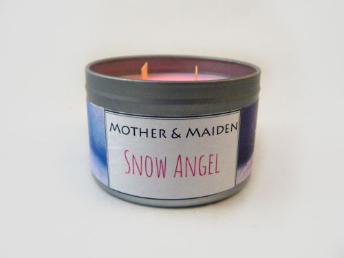 Snow Angel Wood Wick Tin