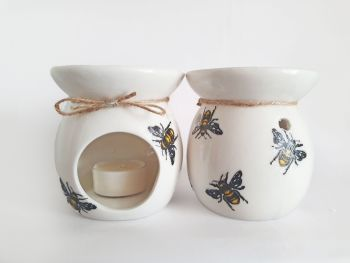 Bee Design Hand Decorated Oil Burner Wax Warmer