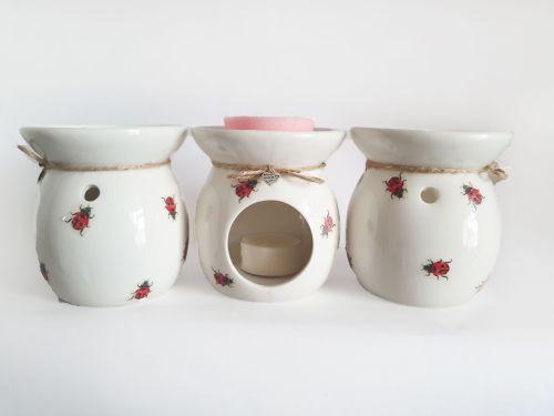 Ladybird Design Hand Decorated Oil Burner Wax Warmer