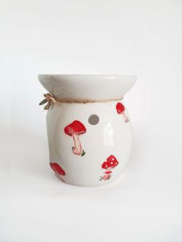Toadstool Oil Burner, Fairytale Forest Inspired Wax Warmer