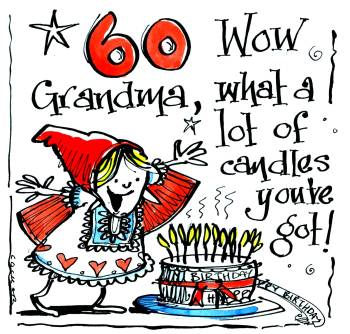 60  Wow Grandma What A Lot Of Candles ....