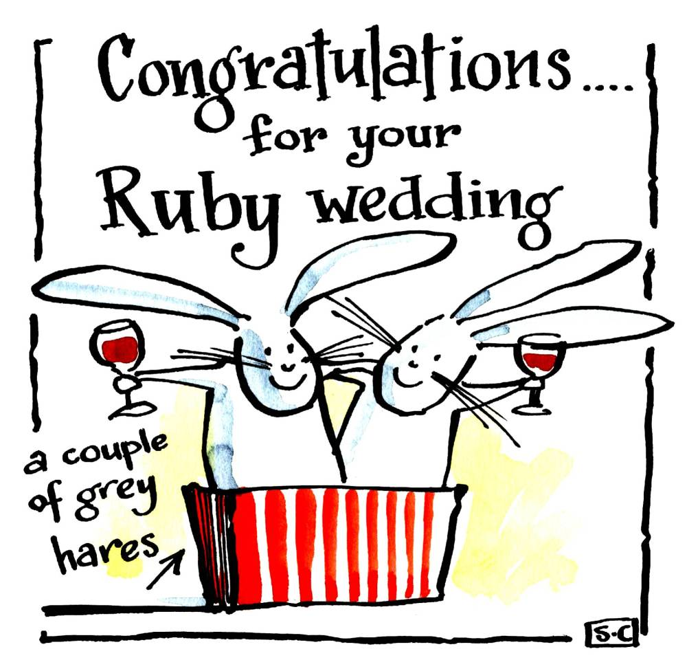 Anniversary Ruby Wedding