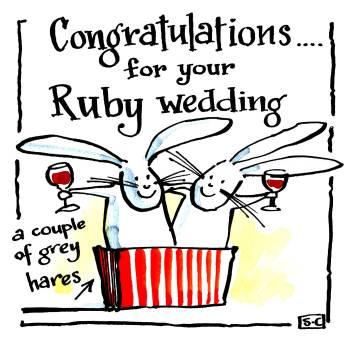 Anniversary Ruby Wedding