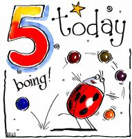 0 5TH Birthday Today