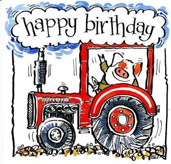 Happy Birthday from a Tractor