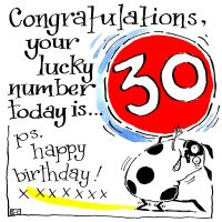 30 Your Lucky Number Happy Birthday