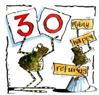 30 Froggy Many Happy Returns