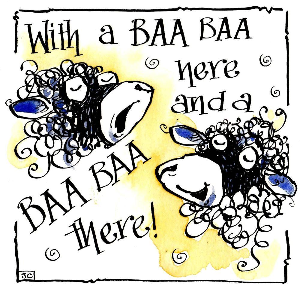 With A Baa Baa Here