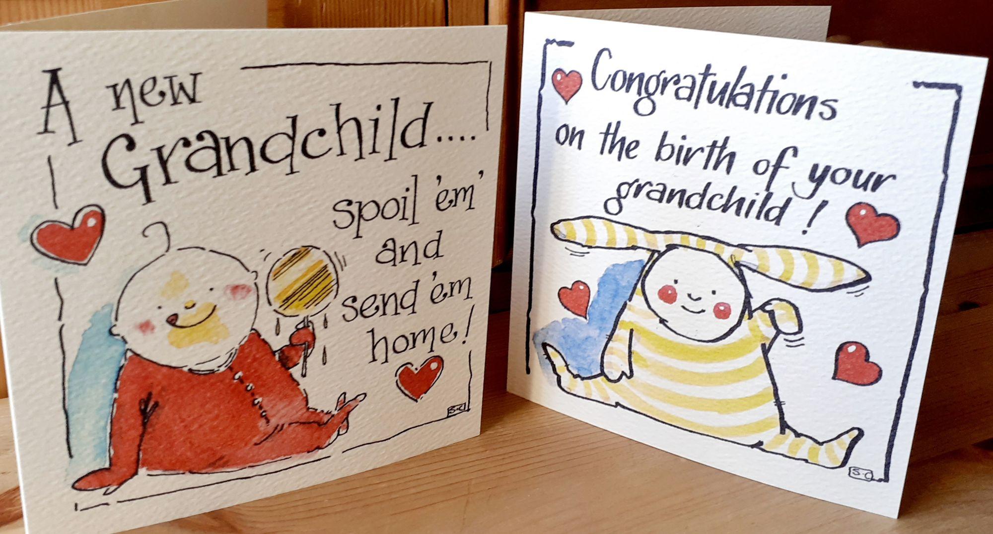 New Grandchild Greeting Cards