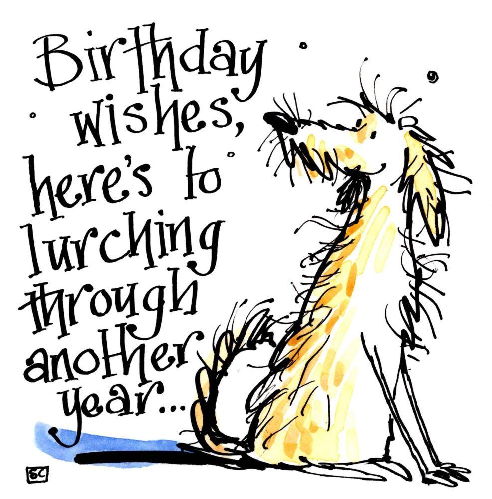 Funny Birthday Card  Lurcher Lover's Birthday Card