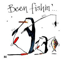 Been Fishing - Penguin Angling Card