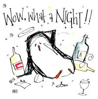 Penguin Party Card!!