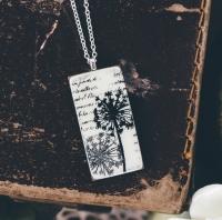 Monochrome tall pendant necklace