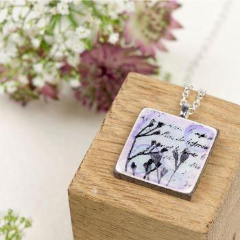 lilac pendant necklace