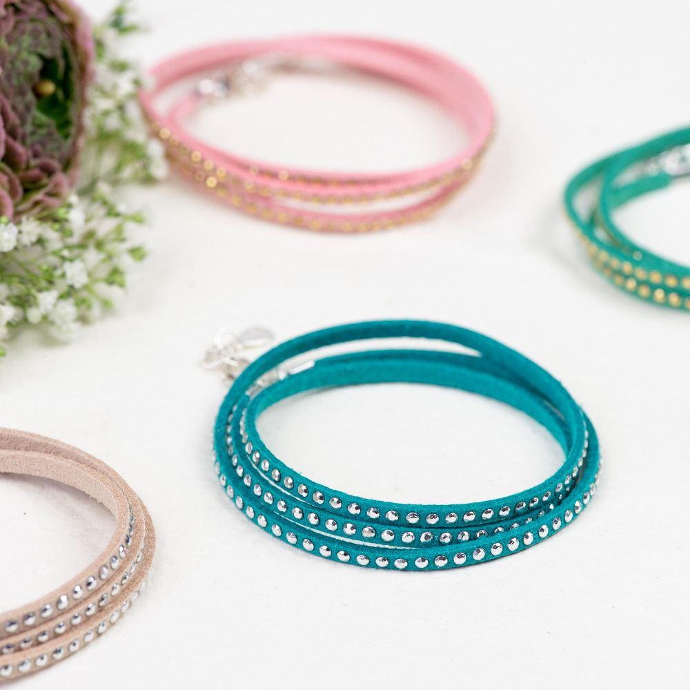 Studded cord wrap bracelets