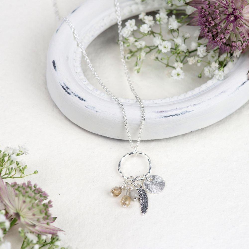 Natural 'elements' necklace