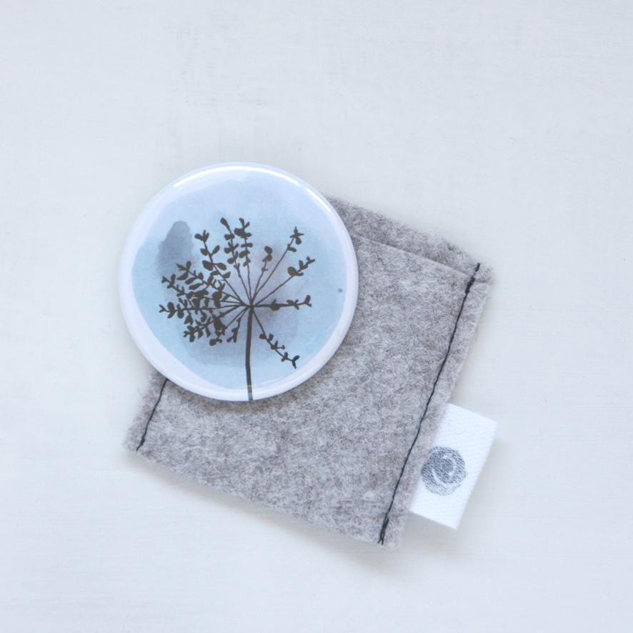 Pocket mirror - blue