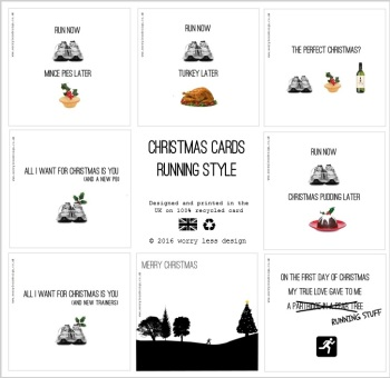 Christmas Cards - Running Style (Pick your own - 5 Pack)