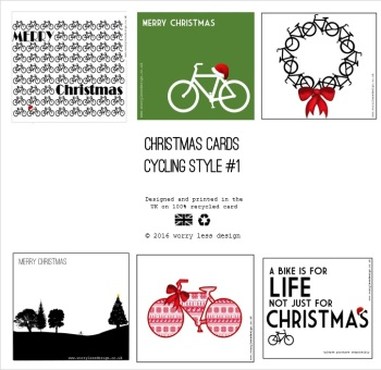 Christmas Cards - Cycling Style #1 (6 pack)