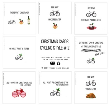 Christmas Cards - Cycling Style #2 (8 pack)