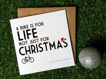 Cycling Christmas Card - A bike is for life
