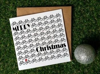 Cycling Christmas Card - Christmas Bikes