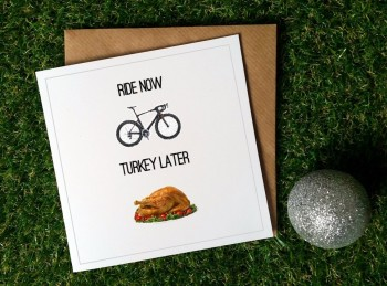 Cycling Christmas Card - Ride now Turkey